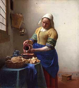 Arte: La lechera, Jan Veermer. 1660