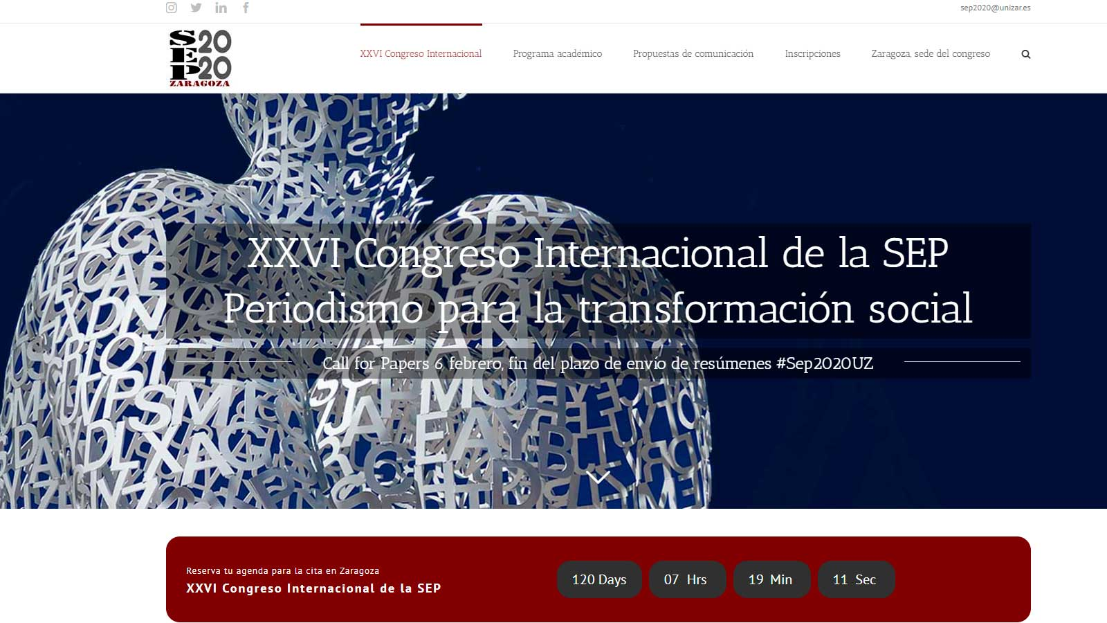 XXVI congreso internacional SEP2020